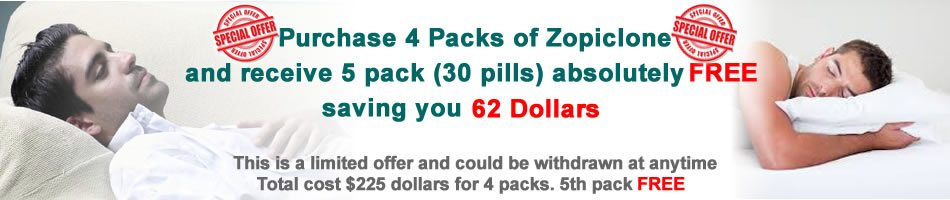 Special Offer: Purchase 4 Packs of Zopiclone and Receive An Extra Pack Free